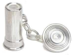 925 Sterling Silver Gents Clay Pigeon Cufflinks - Pobjoy Diamonds