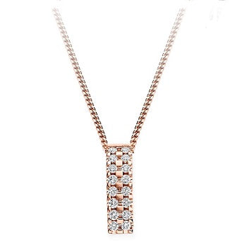 18K Rose Gold 0.35 CTW Diamond Circle Pendant