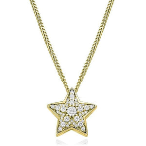 Round Brilliant Cut 0.27 CTW Diamond Star Pendant G-H/Si From Pobjoy