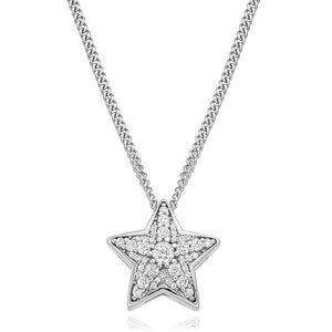 Round Brilliant Cut 0.27 CTW Diamond Star Pendant G-H/Si Pobjoy