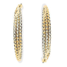 Load image into Gallery viewer, 9K Yellow Gold Layered Hoop Earrings Pobjoy Diamonds Surrey