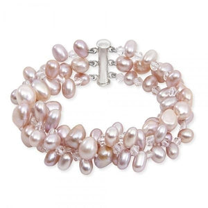 Three Strand Egg Pearl Ladies Bracelet - Pobjoy Diamonds