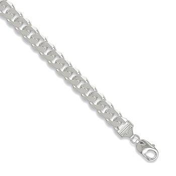 Sterling SIlver Gents Curb Neck Chain From Pobjoy