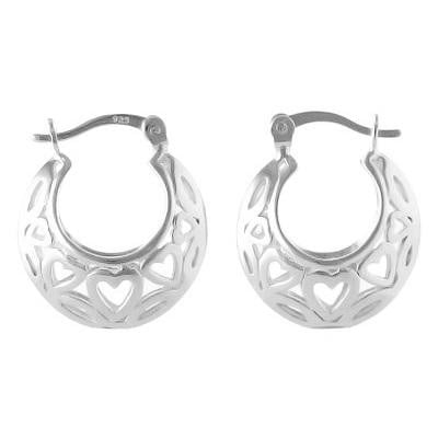 Sterling Silver Patterned Creole Earrings - Pobjoy Diamonds