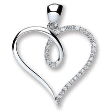 Load image into Gallery viewer, 9K White Gold & Diamond Heart