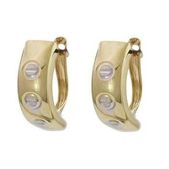 9K Ladies Hinged Hug Earrings