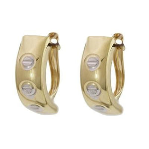 9K Ladies Hinged Hug Earrings - Pobjoy Diamonds