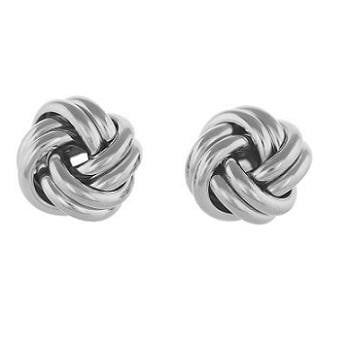 925 Sterling Silver Smooth Knot Stud Earrings - Pobjoy Diamonds