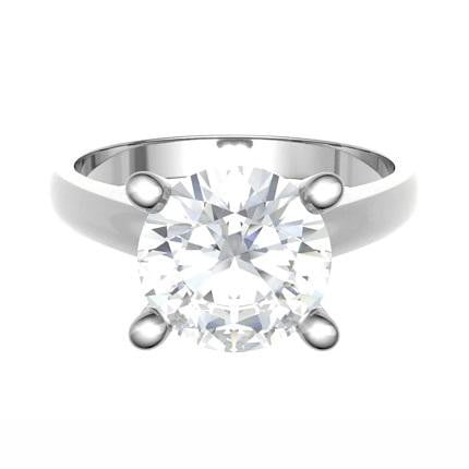 Bespoke Round Brilliant Cut Solitaire Diamond Engagement Ring 1.50-2.50 Carats - Pobjoy Diamonds