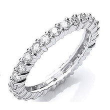 Load image into Gallery viewer, 950 Platinum Pobjoy Full Diamond eternity Ring 1.00 CTW