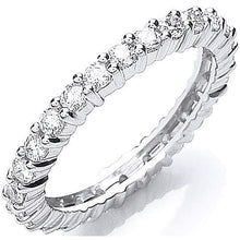Load image into Gallery viewer, 950 Platinum 1.00 CTW  Full Eternity Ring - Pobjoy Diamonds