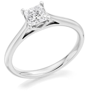 95018K White Gold 0.60 Carat Princess Cut Solitaire