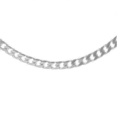 Sterling Silver Gents Octagonal Curb Neck Chain Pobjoy