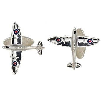 925 Sterling SIlver Gents Spitfire Cufflinks From Pobjoy