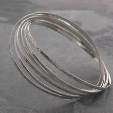Load image into Gallery viewer, Handmade Sterling Silver Russian Style Bangle From Pobjoy
