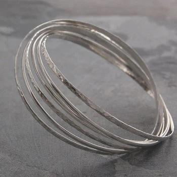 Handmade Sterling Silver Russian Style Bangle From Pobjoy
