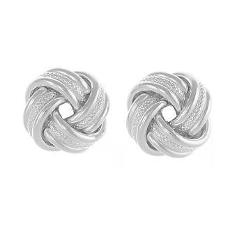 Sterling Silver Textured Knot Studs By Pobjoy