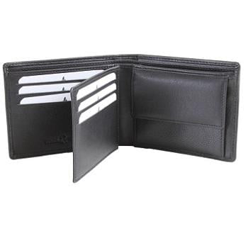 Large Black Leather Wallet - Pobjoy Diamonds