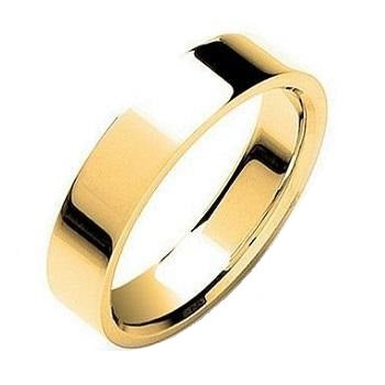 Matching 18K Gold His & Hers Flat Court 5mm Wedding Rings SPECIAL OFFER