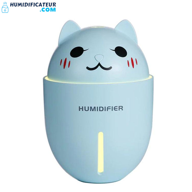 Humidificateur d'Air Bébé - Chaton Timide Bleu