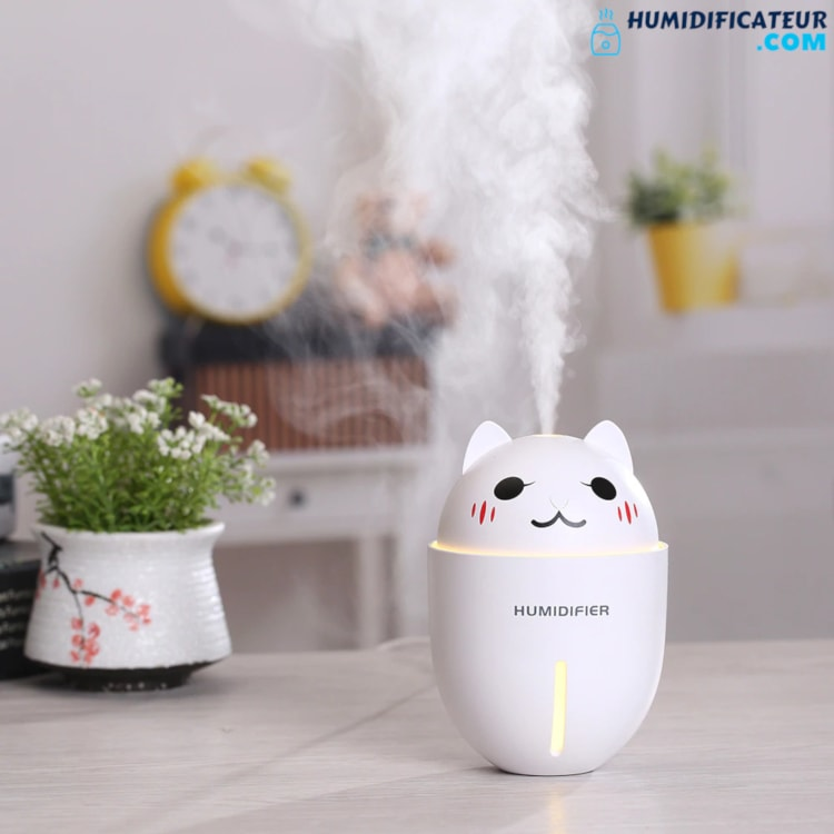 Humidificateur d'Air Bébé - Chaton Timide - Brouillard Humide