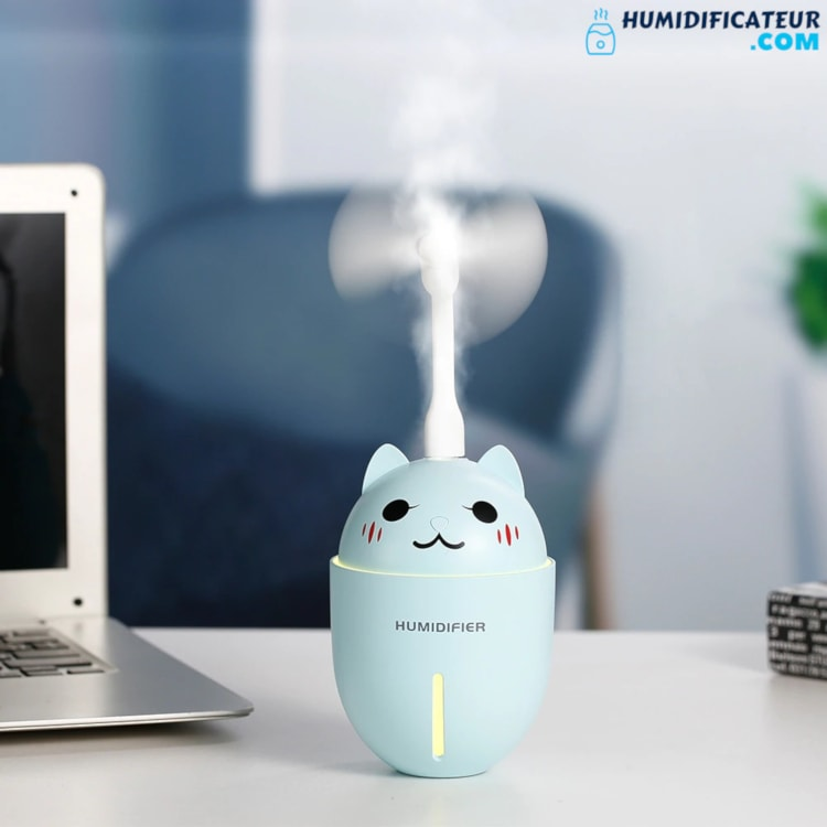 Humidificateur d'Air Bébé - Chaton Timide - Ventilateur