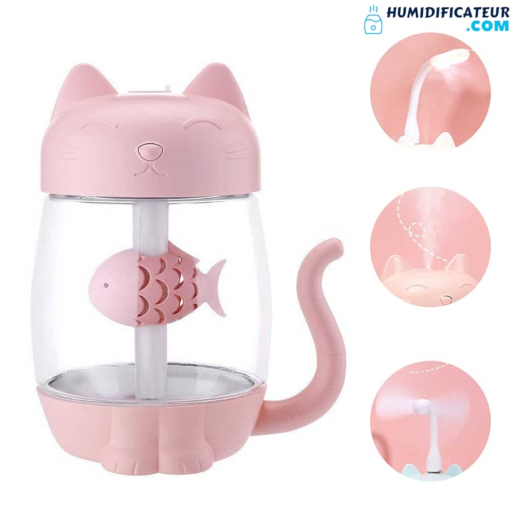 Humidificateur d'Air Bébé - Petit Chaton 3 en 1
