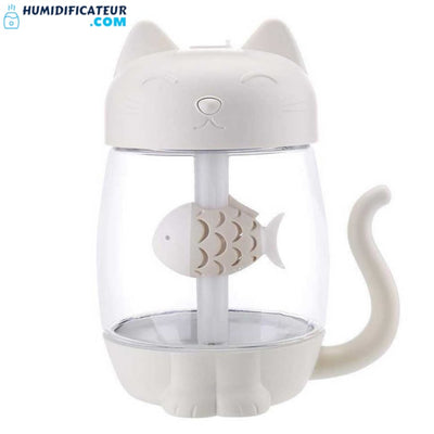Humidificateur d'Air Bébé - Petit Chaton Blanc