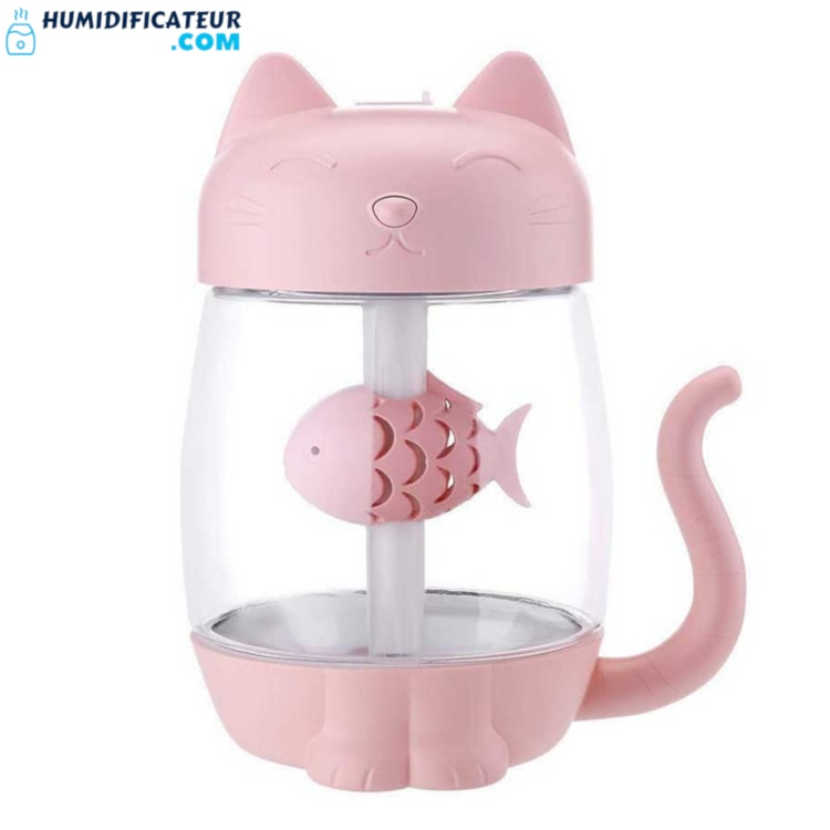 Humidificateur d'Air Bébé - Petit Chaton Rose