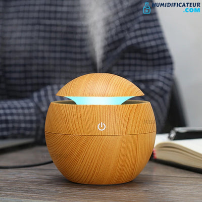 Humidificateur d'Air Chambre Cylindre Apaisant Pin Pas Cher