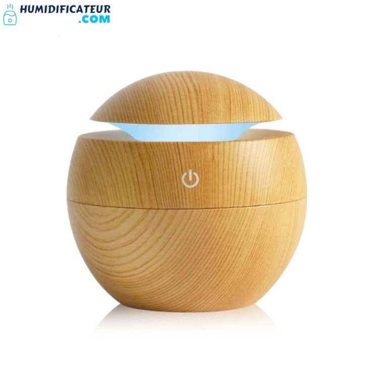 Humidificateur d'Air Chambre Cylindre Apaisant Pin