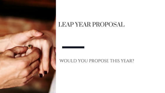 Would You Propose This Leap Year?