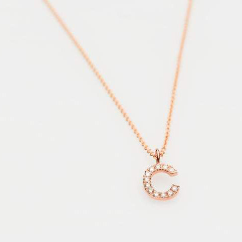 9ct Gold and Diamond Initial Pendant