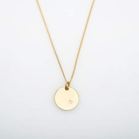 9ct Gold and Diamond Stella Pendant