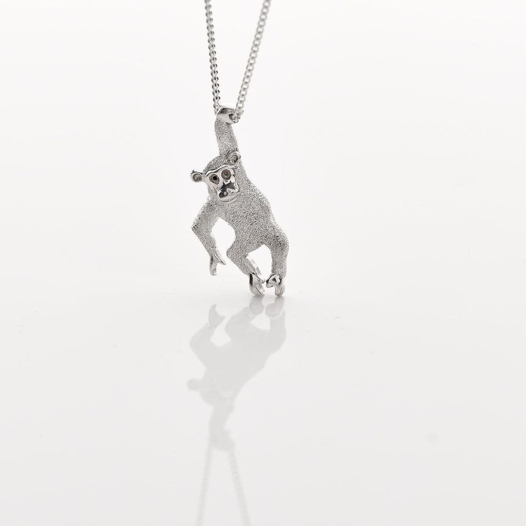 Sterling Silver Chimp Pendant