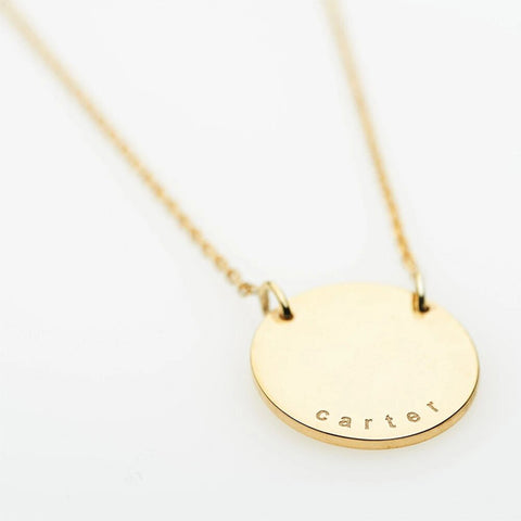 9ct Gold Carter Personalised Pendant