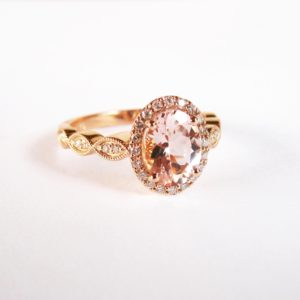 morganite and diamond engagement ring, proposal story