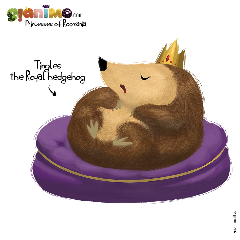 Meet Tingles the Royal hedgehog