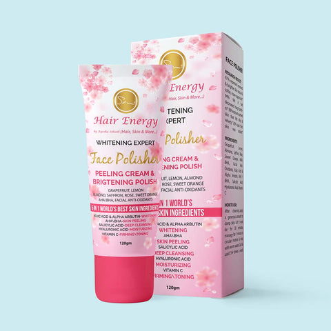 WHITENING EXPERT FACE POLISHER PEELING CREAM & BRIGTENING POLISH