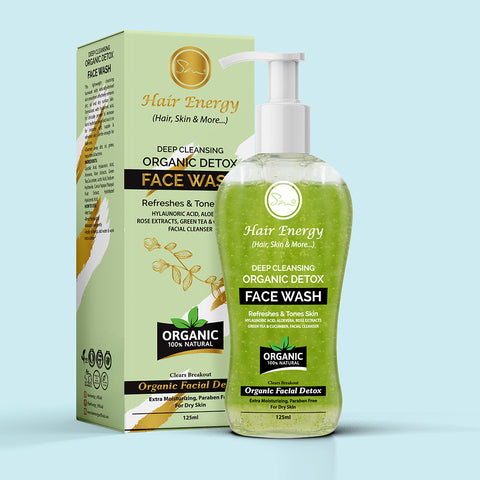Deep Cleansing Organic Detox Face Wash-Refreshes & Tones Skin (FOR DRY SKIN)