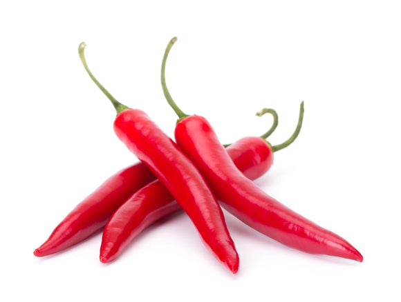 Organic Red Hot Chili Pepper / Sili 250gms