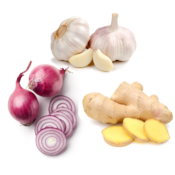 * Garlic, Onion, Ginger Bundle
