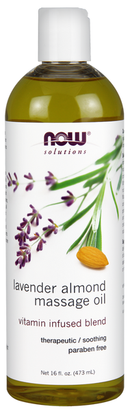 Now solutions Huile de Massage Amandes et Lavande 473 ml - Wellnessmaroc