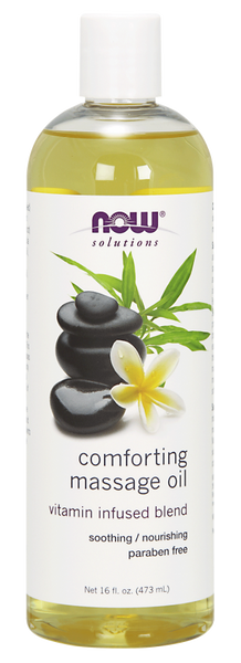 Now solutions Huile de Massage Réconfortante 473 ml - Wellnessmaroc