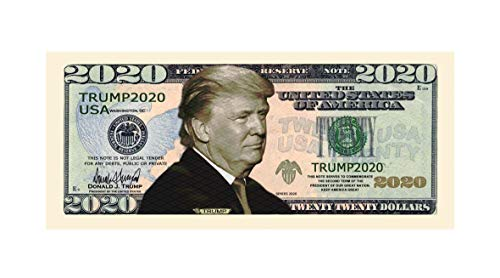 American Art Classics Pack of 25 - Donald Trump 2020 Re-Election Presidential Dollar Bill - Limited Edition Novelty Dollar Bill: Gateway
