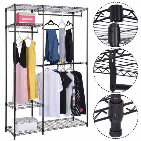"48""x18""x71"" Closet Organizer Adjustable Metal"