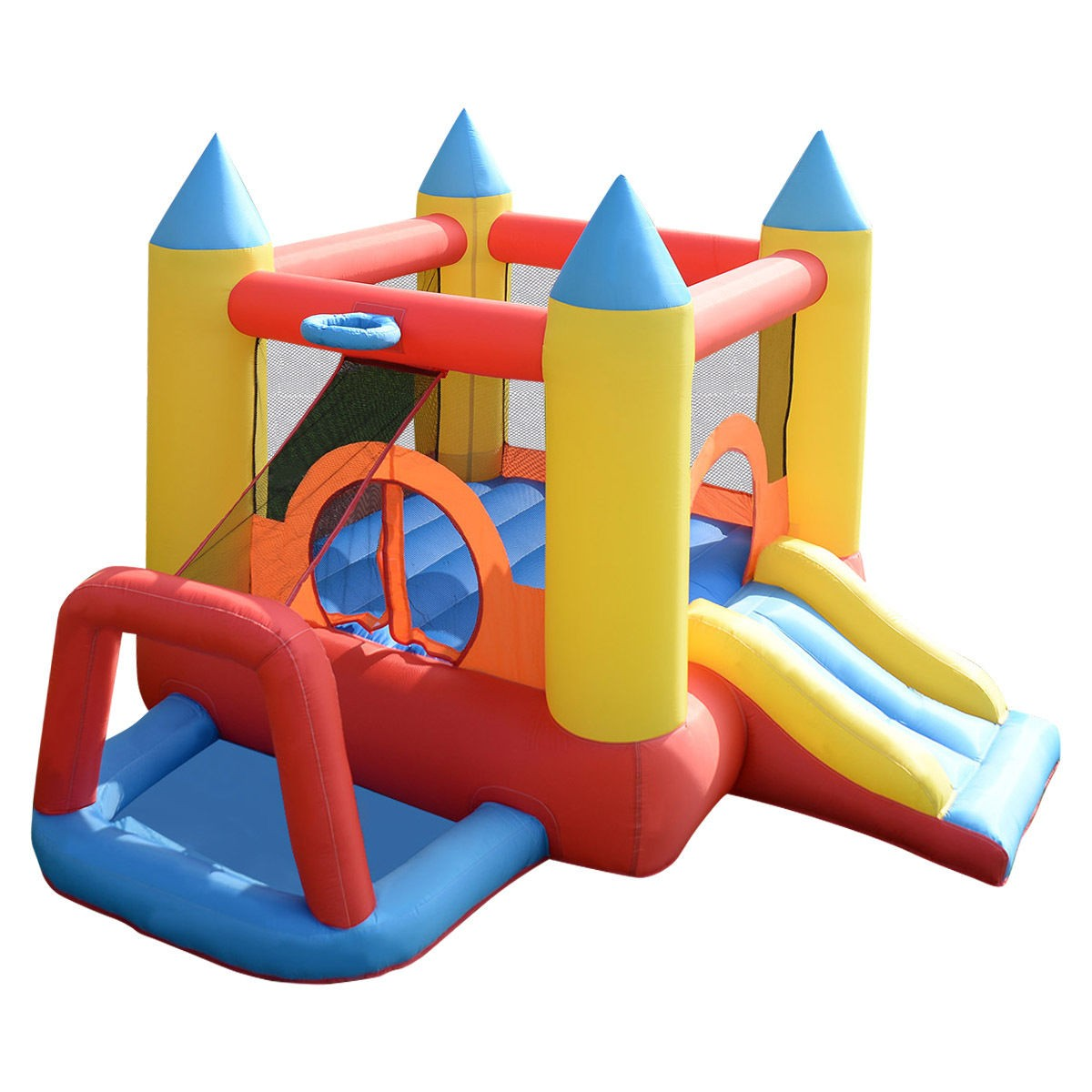 Inflatable Mighty Bounce House Jumper w/ Slide + Arch (Blower Not Included)