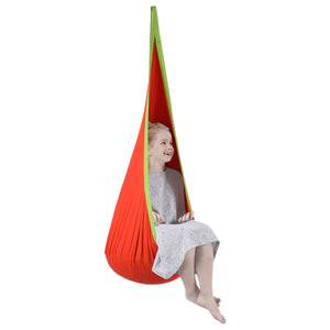 Child Swing Hanging Seat Hammock-orange