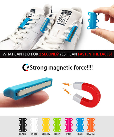 Magnetic Shoelace Buckle Closures (Say No To Shoe laces)
