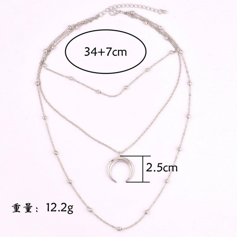 3-Layer Horn Necklace